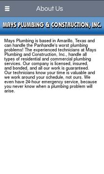 Mays Plumbing & Construction apk screenshot