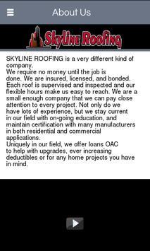 Skyline Roofing apk screenshot