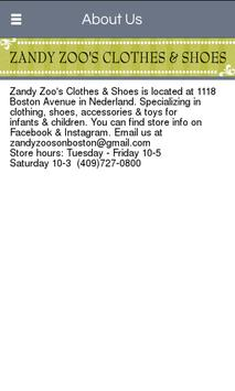 Zandy Zoo's Clothes & Shoes apk screenshot