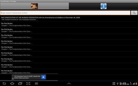 Constitution of Russia apk screenshot