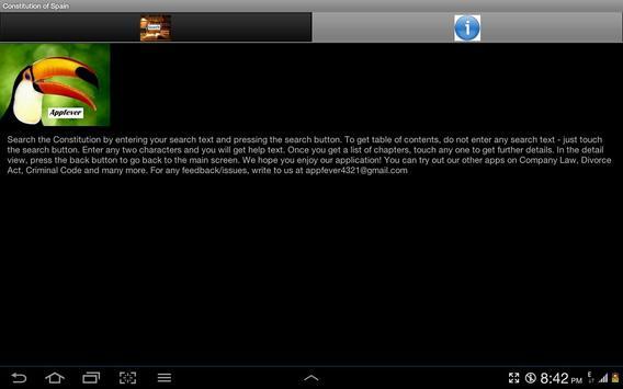 Constitution of Spain apk screenshot