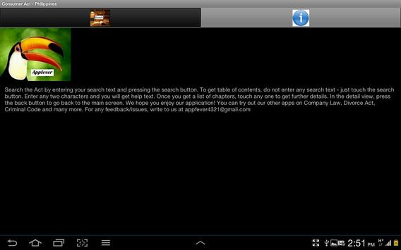 Consumer Act of Philippines apk screenshot