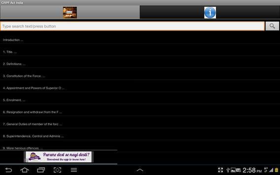 CRPF Act of India apk screenshot