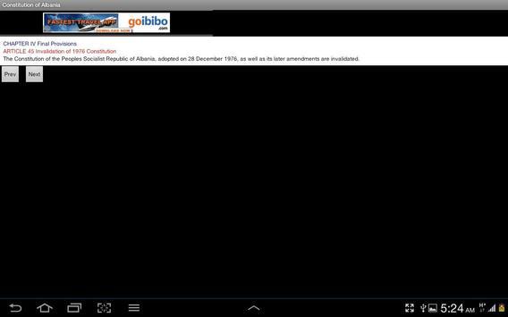 Constitution of Albania apk screenshot