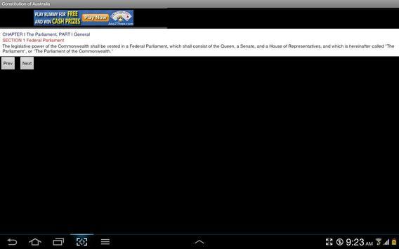 Constitution of Australia apk screenshot