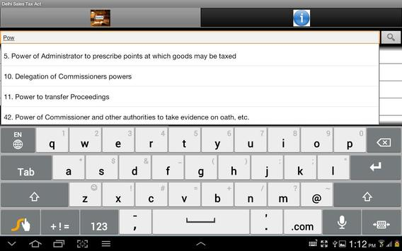 Delhi Sales Tax Act India apk screenshot