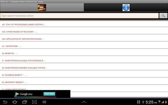 ESIC Act India apk screenshot