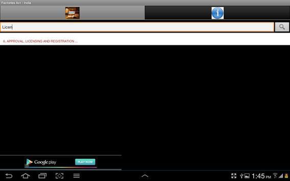 Factories Act India apk screenshot