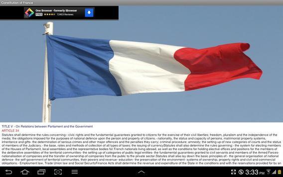 Constitution of France apk screenshot