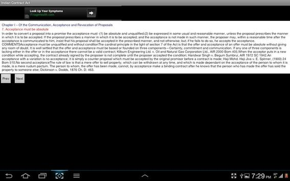 Indian Contract Act apk screenshot