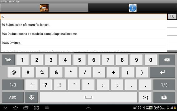 Income Tax Act 1961 apk screenshot