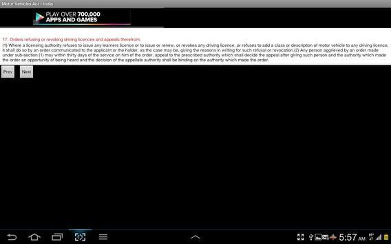 Motor Vehicles Act India apk screenshot