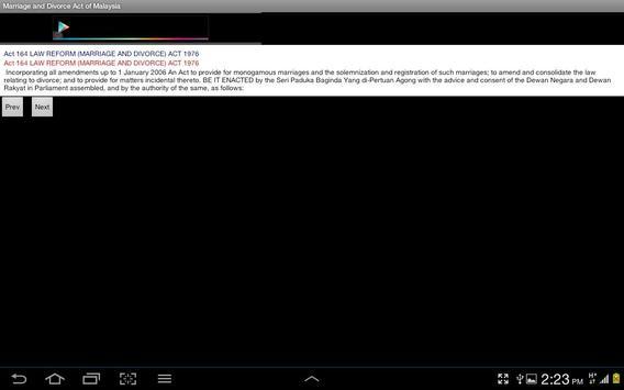 Marriage/Divorce Act -Malaysia apk screenshot
