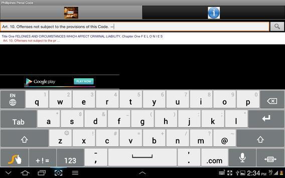 Penal Code - Philipines apk screenshot