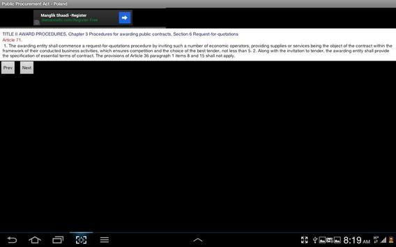 Public Procurement Law -Poland apk screenshot