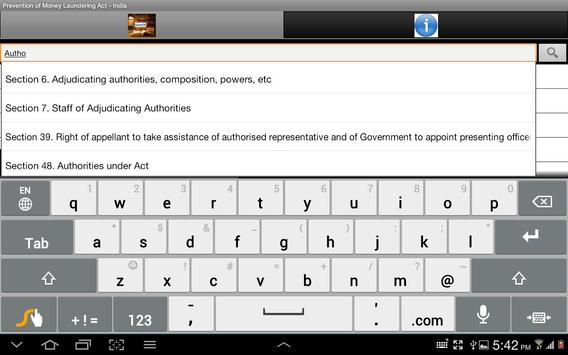 AntiMoney Laundering Act India apk screenshot