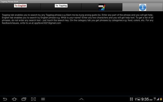 Tagalog Phrase Book apk screenshot