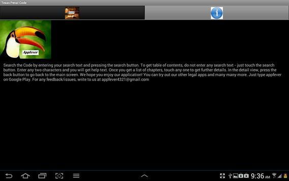Texas Penal Code apk screenshot