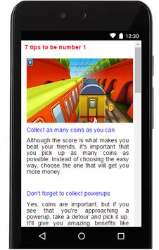 Tips for Subway Surfers apk screenshot