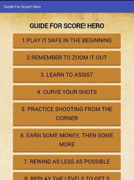 Guide For Score! Hero apk screenshot