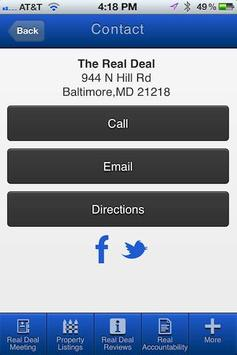 The Real Deal Meetup apk screenshot