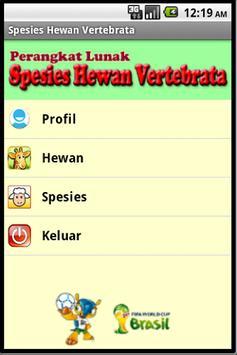 Spesies Hewan Vertebrata poster
