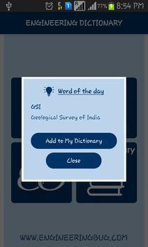 Engineering Dictionary apk screenshot