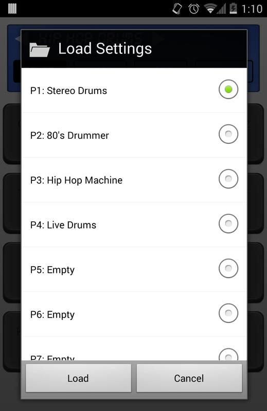 Приложение андроид на драм машину
