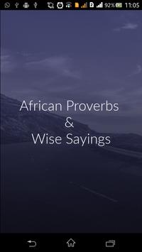 African Proverbs : Wise Saying poster