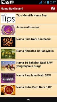 Nama Bayi Islami poster