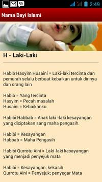 Nama Bayi Islami apk screenshot