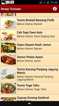 Resep Tumisan apk screenshot