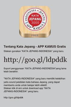 KATA JEPANG - INDONESIA apk screenshot