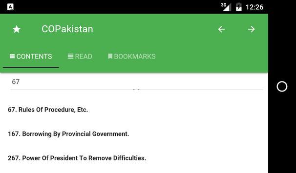 Constitution of Pakistan apk screenshot
