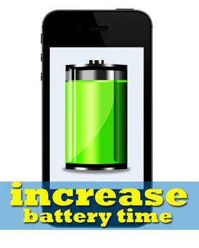 Increase Battery Time poster