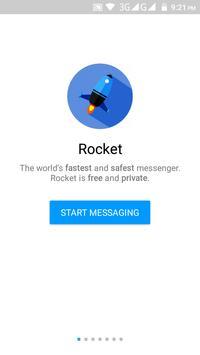 Rocket Messenger 🚀 SecretChat apk screenshot