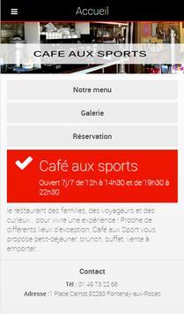Café Aux Sports poster