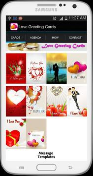 Romantic Love Greeting Cards poster