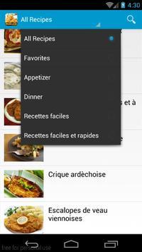 Recette facile et rapides 2016 apk screenshot