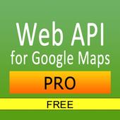 Web API for Google Maps Free icon