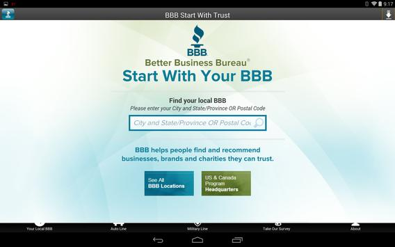 BBB - Start With TrustⓇ apk screenshot