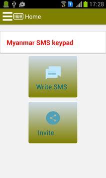 Myanmar SMS Keypad poster