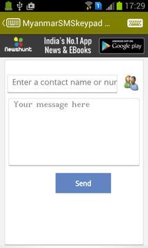 Myanmar SMS Keypad apk screenshot