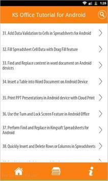 KS Office For Android - Full apk screenshot