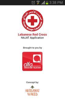 Lebanese Red Cross – NAJAT poster