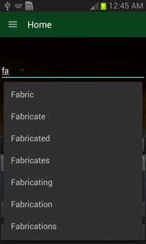 English-Arabic Dictionary apk screenshot