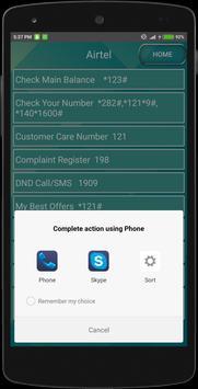 Mobile Codes USSD apk screenshot