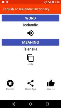 English - Icelandic Dictionary apk screenshot