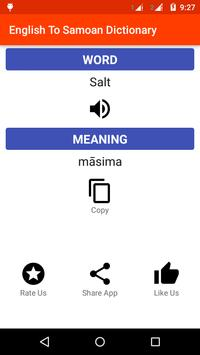 English To Samoan Dictionary apk screenshot