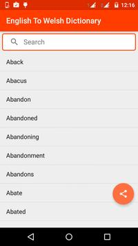 English To Welsh Dictionary apk screenshot